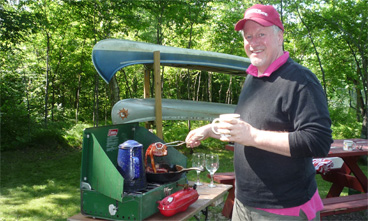 Mark Bertrang relaxing in northern Wisconsin.